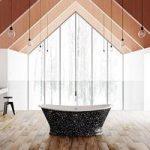 Balthus Freestanding Bath – 1745 x 795mm – Stone Effect Pattern – Belle De Louvain