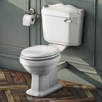 Close Coupled Toilet – White Painted Wood Seat – Traditional – Winchester