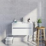 Light Grey Gloss Tile – Natural Stone Effect – Wall – 298mm x 598mm – Box of 6