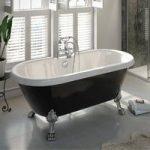 Shakespeare Roll Top Bath – Black – Freestanding – Chrome Dragon Feet – 1700mm – Traditional