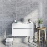 Grey Gloss Tile – Natural Stone Effect – Wall – 298mm x 598mm – Box of 6