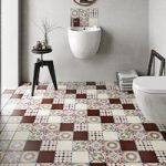 Floor Tile – Patchwork Pattern – 142mm x 142mm – Mulit Colour Matt – Box of 12
