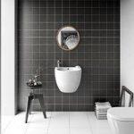 Floor Tile – Patchwork Pattern – 142mm x 142mm – Dark Grey Matt – Box of 12