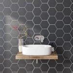 Wall Tile – Hex – 175mm x 202mm – Black Matt – Box of 37