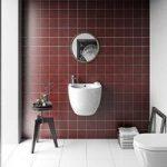 Floor Tile – Patchwork Pattern – 142mm x 142mm – Red Matt – Box of 12