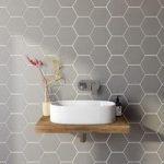 Wall Tile – Hex – 175mm x 202mm – Grey Matt – Box of 37
