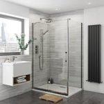 Glaser Frameless Sliding Shower Enclosure 1400 x 800mm – Left Handed