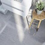 Light Grey Gloss Tile – Natural Stone Effect – Floor – 298mm x 598mm – Box of 9
