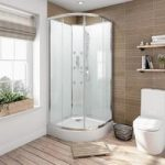 Quadrant Shower Cabin – Glass Backed Enclosure – 900 x 900mm – Sliding Door