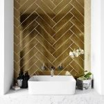 Metallic gold wall tile 75mm x 300mm