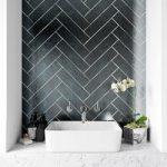 Metallic iron wall tile 75mm x 300mm