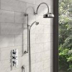 Traditional Shower Set – Triple Shower Valve – Thermostatic – Round Shower Head – The Bath Co