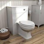 Camberley Back To Wall Toilet Unit – White – With Winchester Toilet – Traditional