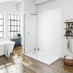 Mode Walk In Shower Panel With Tray 1600 x 800mm – Rectangular – 8mm