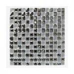Mosaic Tile – Monochrome – Glass Squares – Wall – 300mm x 300mm – 1 Sheet