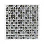 Mosaic Tile – Monochrome – Glass Squares – Wall – 300mm x 300mm – 1 Sheet