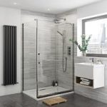 Glaser Frameless Sliding Shower Enclosure 1400 x 900mm – Right Handed