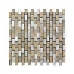 Mosaic Tile – Rectangular Stones – Wall – 300mm x 300mm – 1 Sheet – Biscuit