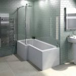 L Shaped Shower Bath – 1500 x 850mm – With 6mm Shower Screen – Left Handed