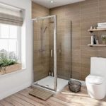 Rectangular Shower Enclosure 800 x 900mm – Pivot Door – Framed – 6mm Glass