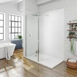 Mode Walk In 8mm Shower Glass Panel – Return Panel & Tray 1400 x 900mm