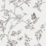 Nature Trail White Mica Wallpaper – Kitchen & Bathroom – 10 Metre Roll – Graham & Brown