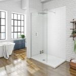 Walk in Shower Enclosure – 1200 x 800mm – Includes Tray – 8mm Recess Glass