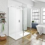 Mode 3 Sided 8mm Walk In Shower Enclosure Pack & Tray – 1600 x 800mm