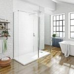 Spacious 3 Sided 8mm Walk In Shower Enclosure & Tray – 1600 x 800mm