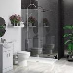 Multipanel Economy Obsidian Marble Single Shower Wall Panel – 10mm PVC