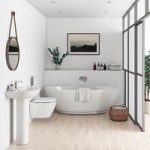 Harrison Rimless Bathroom Suite With Freestanding Bath – Contemporary