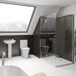 Hardy Rimless Bathroom Suite – With 8mm Shower Enclosure 1200 x 800mm – Mode