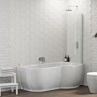 Featuring Naturally Inspired Curves This Premium P Shaped Shower Bath From Our Maine Collection Will Bring Stunning Designer Style To Your Bathroom Space