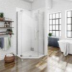 Pentagonal Shower Enclosure – 900 x 900mm – Includes Tray – Left Handed