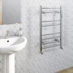 Heated Towel Rail – White – Contemporary – Straight – 800 x 500mm