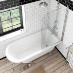 The Bath Co. Dulwich Freestanding Shower Bath & Screen – Traditional – Acrylic