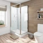 Quadrant Shower Cabin – Glass Backed Enclosure – 1200 x 800mm – Sliding Door
