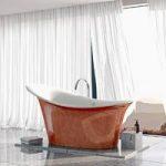 Fontana Freestanding Bath – 1750 x 825mm – Copper Leaf Coating – Belle De Louvain