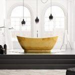 Belle De Louvain Gold Freestanding Bath – Acrylic – Contemporary