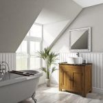 Chester Washstand – 800mm – Oak – Brown Marble Top – Traditional – The Bath Co