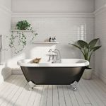 The Bath Co. Dulwich Roll Top Bath 1700mm – Black – Traditional – Ball & Claw Feet