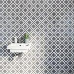 Diamond Matt Tiles – Black & White – 331mm x 331mm – Box of 9