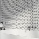 Hex Mosaic Tile – Glossy White – Hexagon – 300mm x 300mm – 1 Sheet
