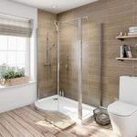 P Shaped Shower Enclosure – 1500 x 900mm – 6mm Glass – With Shower Tray – Left Handed