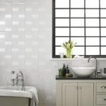 Wall Tile – Highgate Gloss – 248mm x 498mm – White – Laura Ashley – Box of 8