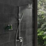Waifer Flim Shower Riser System – Round – Thermostatic – Chrome – Contemporary – Minimalist