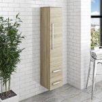 Bathroom Wall Cabinet – Oak Finish – Tall – Contemporary – Arden