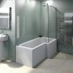 L Shaped Shower Bath – 1700 x 850mm – With 5mm Shower Screen – Right Handed
