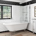 The Bath Co. Dulwich Freestanding Shower Bath & Screen – Includes Rail – Traditional