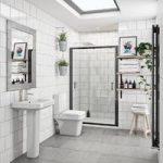 Ive Bathroom Suite – With Black Shower Door – 1200mm – Mode